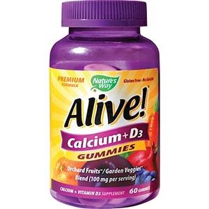 Supliment alimentar Alive Calcium + D3 Gummies
